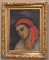 Oil Painting of a Lady with a Red Headscarf (3 of 8)