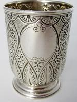 Victorian Silver Christening Mug with a Floral Scroll Handle (6 of 6)