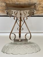 19th Century Victorian Silver Plate Sphinx Cut Glass Epergne Centrepiece Stand (2 of 28)