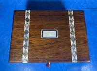 Victorian Rosewood Jewellery Box  With Inlay (5 of 15)