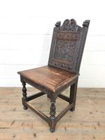 Victorian Carved Oak Chair (3 of 9)