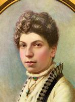 Fine Quality 19th Century Antique English Porcelain Plaque Portrait Painting c.1870 (6 of 11)