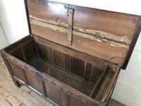 Antique Carved Oak Coffer (9 of 13)
