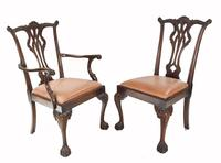 Set of Chippendale Dining Chairs Mahogany Antique 1890 Ball Claw (5 of 9)