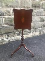 Antique Inlaid Mahogany Tripod Wine Table (6 of 6)