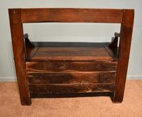 Early Nineteenth Century French Cherry Wood Bench (5 of 7)