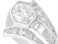 3.24ct Diamond & Platinum Cocktail Ring - Art Deco c.1935 (3 of 9)