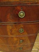 Antique Bow Front Mahogany Chest of Drawers, Country House Chest (7 of 16)