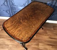 Victorian Burr Walnut & Amboyna Centre Table (12 of 14)