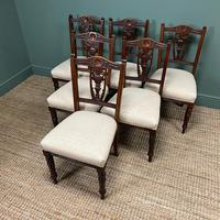 Set of Six Edwardian Walnut Antique Dining Chairs (6 of 8)