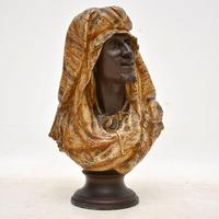 Antique Bronzed Spelter Bust of a Moorish Man (5 of 10)