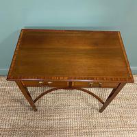 Elegant Edwardian Mahogany Antique Writing Table (6 of 7)