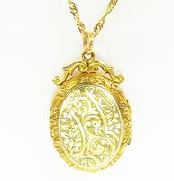 Antique Hallmarked Gold Locket With Necklace (4 of 8)