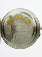 Silver 0.800 L.U.C. Chopard Open Faced Pocket Watch 1915 - Louis Ulysses Chopard (5 of 6)