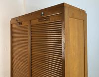 Vintage French Mid Century Double Filing Cabinet Tambour Roller Shutter by G Moreux (5 of 13)