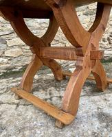 Antique Swedish Pine X-frame Trestle Table (17 of 21)