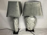 Pair Chinese Cantonese Porcelain Table Lamps With Shades Lighting Christmas Gift (36 of 51)