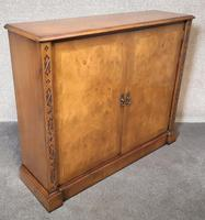 Burr Walnut Side Cabinet / Bookcase Iain James Furniture (8 of 8)