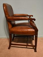 Desk Chair / Armchair Mahogany Leather 19th Century (4 of 6)