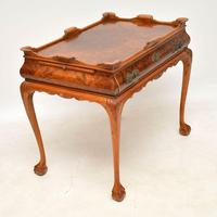 Antique Burr Walnut Tray Top Side Table (3 of 8)