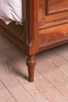 Attractive French Walnut Double Bed (7 of 8)
