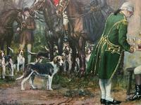 ''Before The Hunt'' Wonderful Large Vintage 18th Century Style Print on Board Picture (6 of 12)