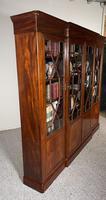 Four Door Breakfront Bookcase In Mahogany-19th Century (7 of 10)