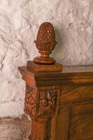 Impressive and beautiful large king size carved walnut bed & matching bedsides (8 of 13)