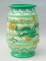 Charlotte Rhead Tube Lined Vase Manchu Dragon Design (4 of 9)