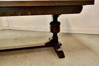 Large Dark Oak Refectory Extending Table (10 of 12)