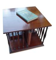 Edwardian Mahogany Table Top Revolving Bookcase (2 of 3)