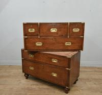 Antique Mahogany Campaign Military Chest Of Drawers (5 of 8)