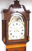 19th Century English Longcase Clock in Mahogany Painted Moon Roller Dial 8-Day Signed Martin Clayton (4 of 5)