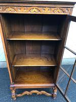 Antique Slim Glazed Oak Bookcase (3 of 11)