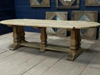 Huge French Bleached Oak Monastery Dining Table (17 of 30)