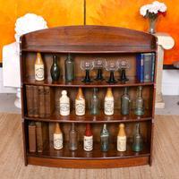 Oak Open Bookcase Bowfront Waterfall Bookshelves (9 of 9)