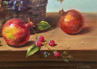 Original Vintage Still Life of Fruit & Flowers - 'Tom Caspers' 20thc British (10 of 12)