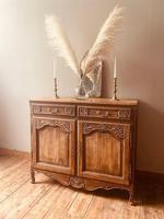 French Antique Rustic Cupboard / Normandy Buffet / Oak Sideboard (4 of 5)