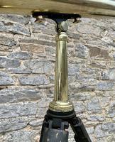 Antique Broadhurst Clarkson & Co Brass Telescope on Tripod (3 of 14)