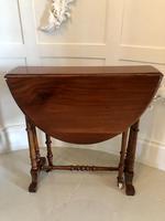 Victorian Walnut Drop Leaf Sutherland Table