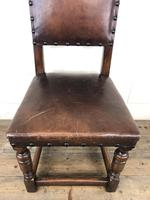 Set of 4 Early 20th Century Leather Dining Chairs (7 of 10)