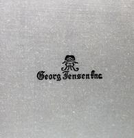Good Sterling Solid Silver Georg Jensen Acorn Serving Set c.1945+ (6 of 6)