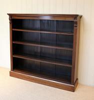 Late 19th Century Open Mahogany Bookcase (3 of 10)