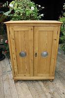 Lovely Old Stripped Pine Food Cupboard / Linen / Larder / Storage  - We Deliver! (2 of 9)