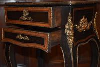 Striking 19th Century French Ebonised & Marquetry Side Table c.1880 (11 of 16)