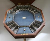 Late Victorian Walnut Trumpet Workbox Table (5 of 7)