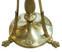Edwardian Cast Brass Standard Lamp (2 of 3)