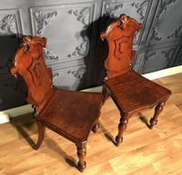 Pair of Victorian Mahogany Hall Chairs 318 (11 of 14)