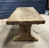 Superb Very Rustic French Oak Bleached Oak Farmhouse Dining Table (15 of 32)