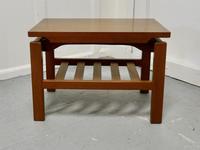 Small Mid Century Modern Teak Coffee Table with Magazine Shelf  Under (2 of 4)